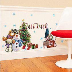 Vánoční vinylová samolepka na zeď