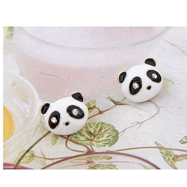 Náušnice s motivem pandy 1