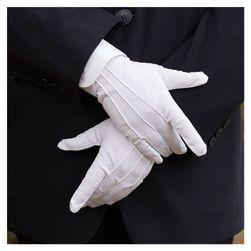 Eleganckie białe rękawiczki