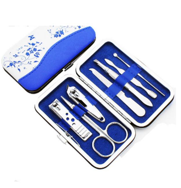 Set za manikuro modre barve 1