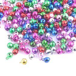 Kolorowe metalowe dzwoneczki - 100 sztuk