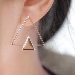 Cercei eleganti triunghiulari - 2 variante