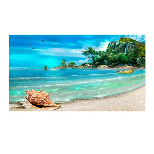 DIY obraz  40 x 30 cm v mořském designu 1