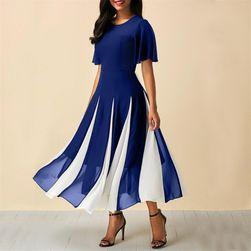 Šaty s pruhmi na sukňu