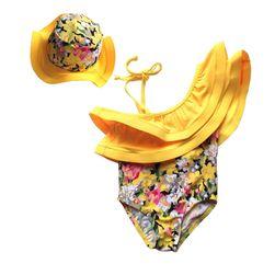 Costume de baie cu pălărie pentru fete - diverse dimensiuni