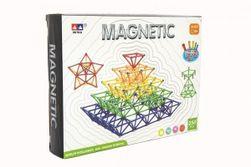 Magnetická stavebnica 120 ks plast / kov v krabici 28x19x5cm RM_00850360