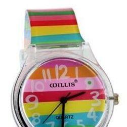Ženski ručni sat u duginim bojama