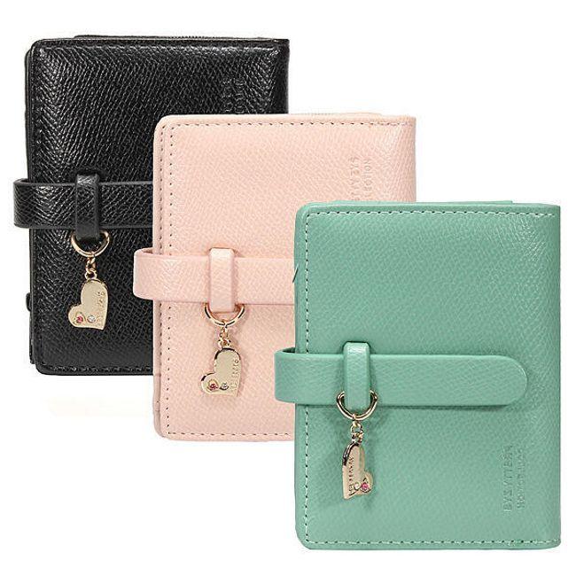 Damski portfel z wisiorkiemw kształcie serduszka - oferujemy 3 kolory 1