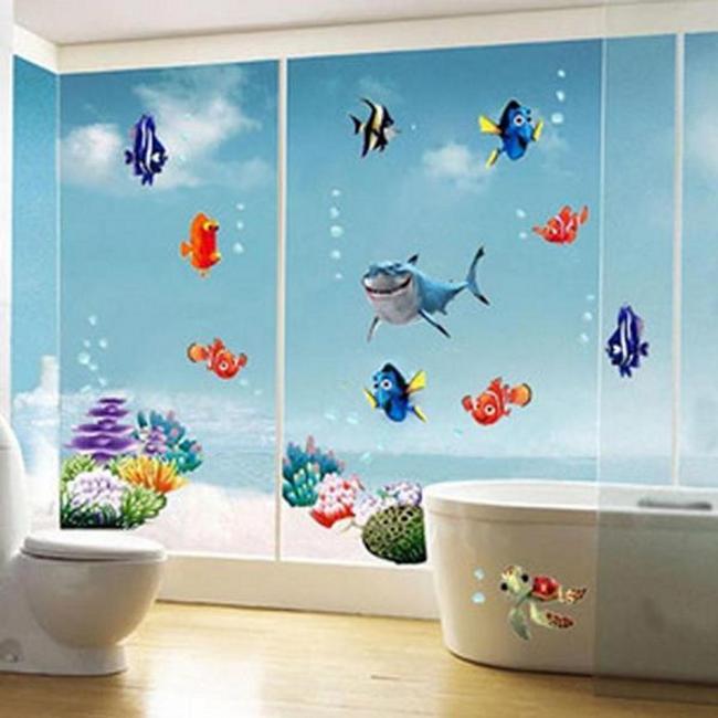 Autocalant pentru perete - lumea subacvatică 1