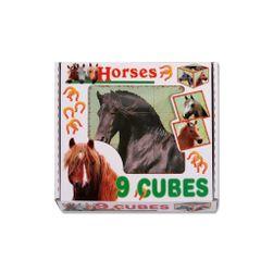 Skladací obrázkové kocky Horses RW_14421