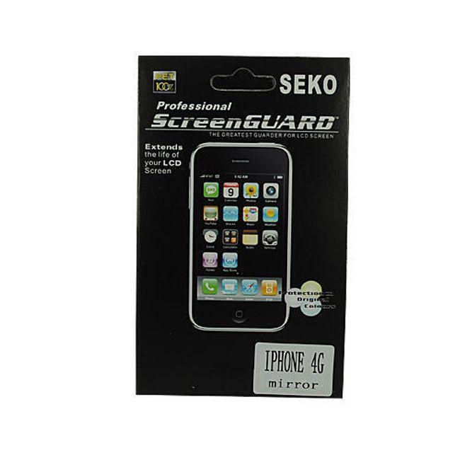 Zrcadlová ochranná folie na iPhone 4 + čistící ubrousek 1