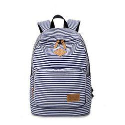 Pruhovaný školní batoh
