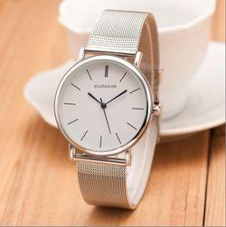 Damski zegarek z prostą tarczą - 2 kolory