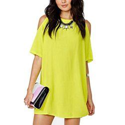Женское платье с открытыми плечами - 4 цвета