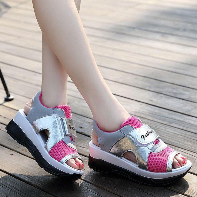 Dámské turistické sandále na suchý zip - růžová - 25 cm (vel. 40) 1