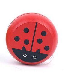 Дървено йо-йо - червена калинка