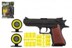 Pisztolydugó 17 cm-es műanyag + lőszer 12db + cél 2db a kártyán RM_00850276