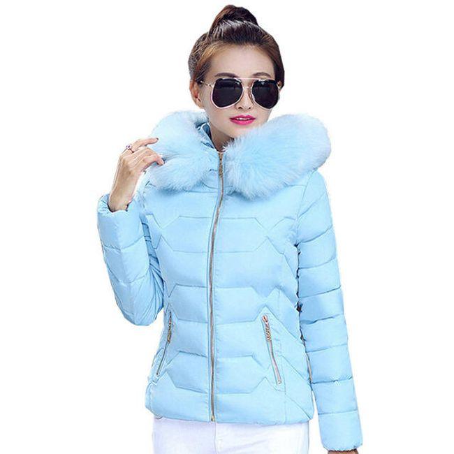Stylová bunda s kožíškem - 2_velikost č. 6 1