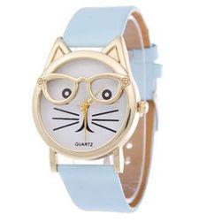 Dívčí hodinky s kočičkou - 3 barvy
