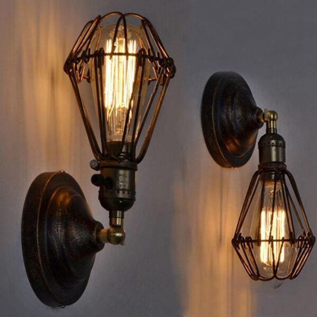 Nástěnné vnitřní svítidlo v industriálním stylu - 2 barvy 1