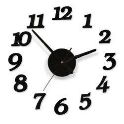 Ceas de perete în negru - 3D