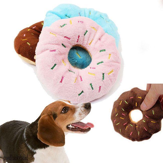 Мягкая игрушка для собак, Пончик 1