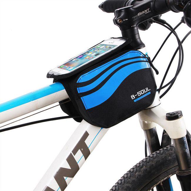 Telefon penceresi olan bisiklet çantası 1