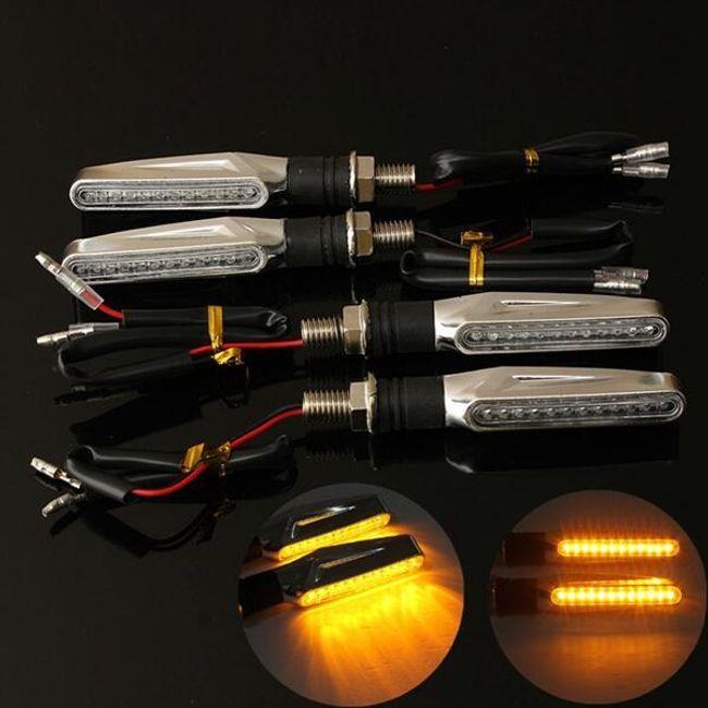 4 LED-es irányjelző készlet motorkerékpárokhoz 1