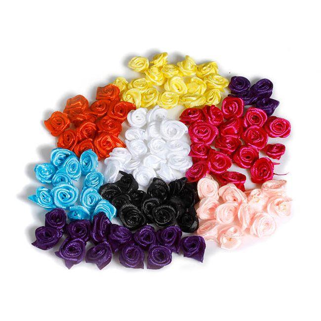 Dekoratív szatén rózsák - csomag 50 db 1