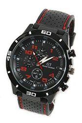 Стильные спортивные мужские часы - красный