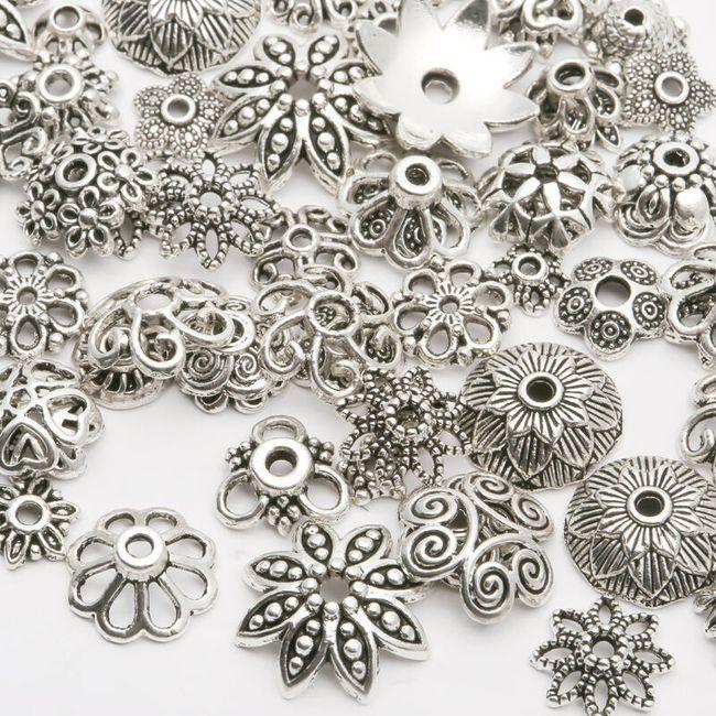 Ozdobne komponenty do tworzenia biżuterii - 150 sztuk 1