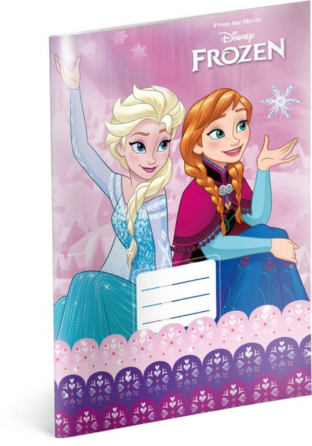 Caiet - Regatul de gheață - Elsa și Anna - Nr. 420 - 5 bucăți 1
