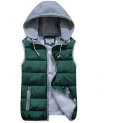 Prošívaná vesta s kapucí - více barev