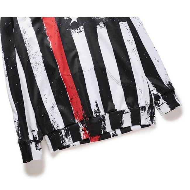 Férfi pulóver - amerikai zászló motívum