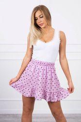 Fialová puntíková sukně LT_260717