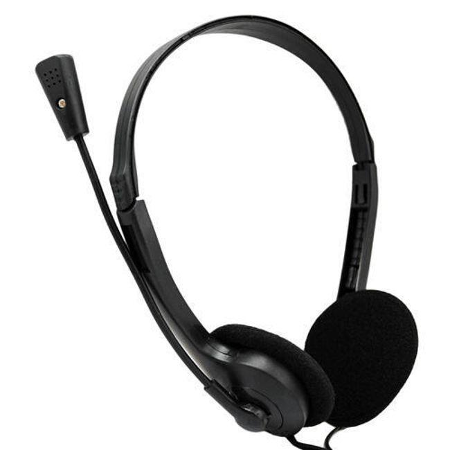 Sluchátka s mikrofonem pro PC - černá 1