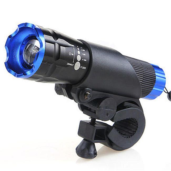 Přední cyklistický světlomet - různé barvy 1