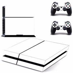 Nálepka na PlayStation 4 + 2 gamepady - bílá