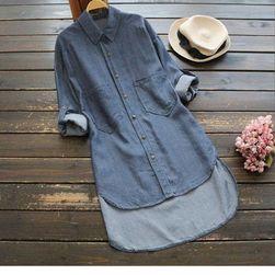 Bayan gömlek Genette Açık mavi - beden 8