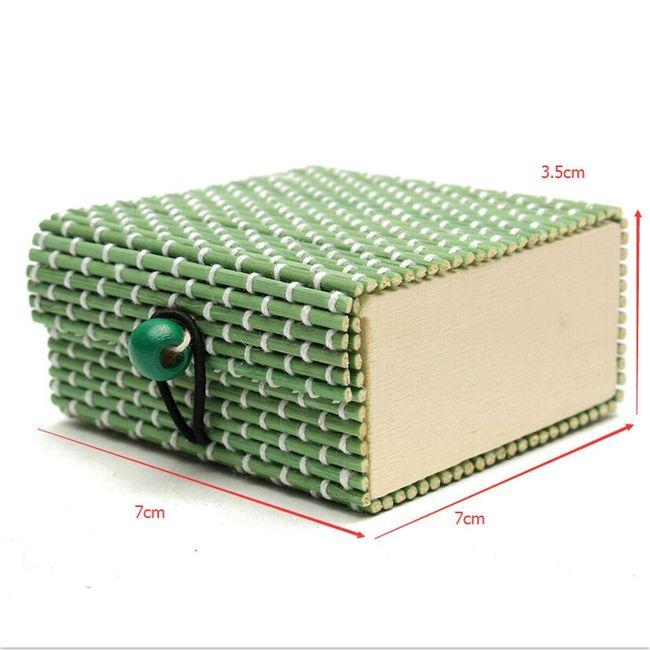 Cutie de bijuterii din lemn de bambus 22