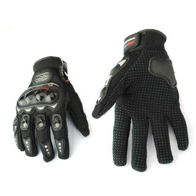 Motocyklistické rukavice černé M 1