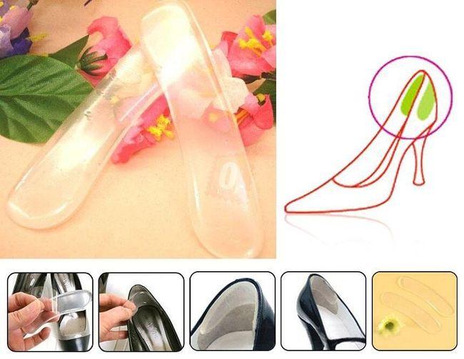 Silikonové vložky do bot - patěnky 1