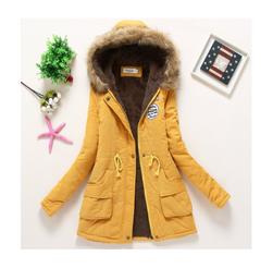 Dámská zimní bunda Jane - Žlutá-velikost č. XL