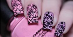 Шаблон за нокти с мотив на рози