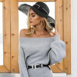 Pletené šaty Agnetha - šedá