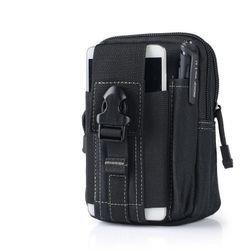 Taktyczna outdoorowa torba na biodro - czarny kolor
