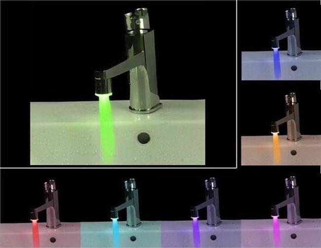 LED nástavec na kohoutek - 7 barev světla 1