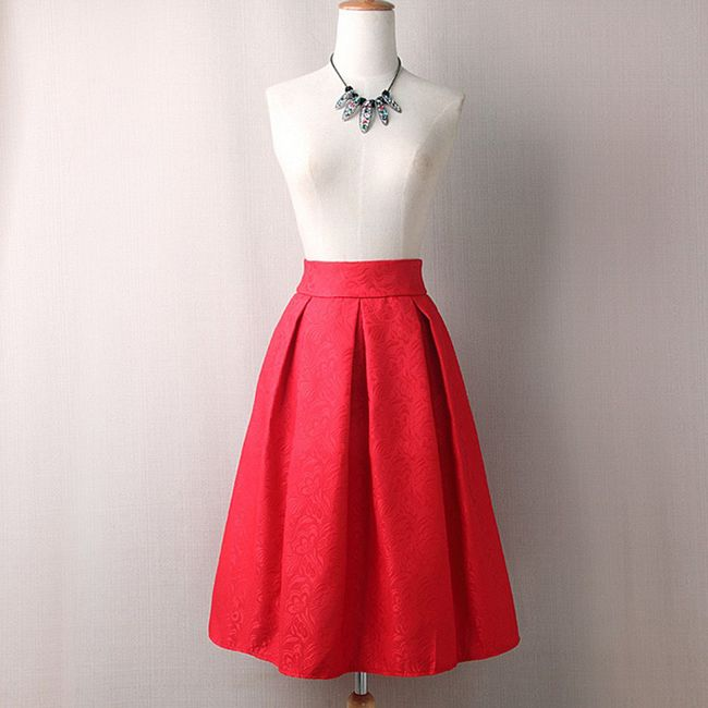 Áčková sukně s vysokým pasem 1