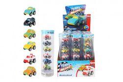 Sada auta mini 6ks plast 5cm na zpětné natažení mix druhů v blistru/pl. tubus RM_00542686
