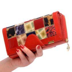 Női pénztárca varrott stílusban - 5 színben